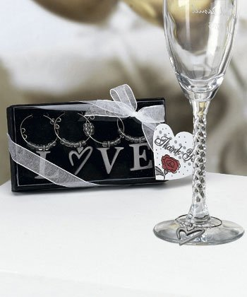 LOVE wine charms (Set of 48)