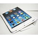 iPad mini ケース/アイパッド ミニ/スタンドB型/合皮製/牛皮模様/ホワイト/白色