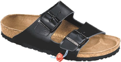 Details for Birkenstock Sandals ''Arizona'' from Leather in Black 42.0 EU W
