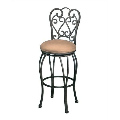 Pastel Furniture MA 222 AR 631 Magnolia Rust 26 Inch Swivel Barstool w/ Moccasin Suede Fabric