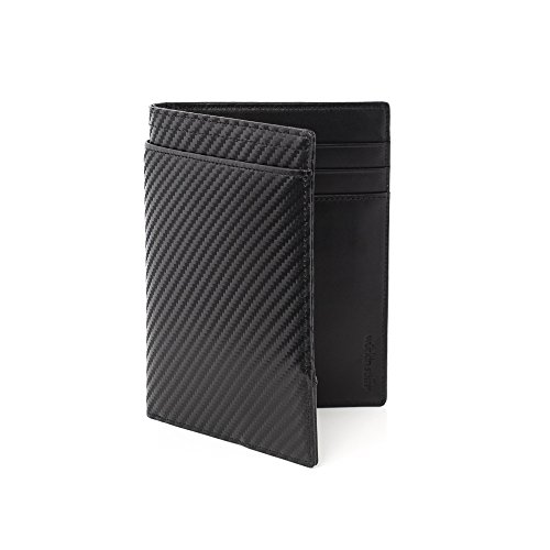 08. Würkin Stiffs Carbon Fiber RFID Leather Passport Wallet
