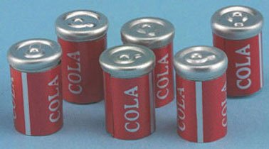 Dollhouse COLA CANS 6/PC - 1