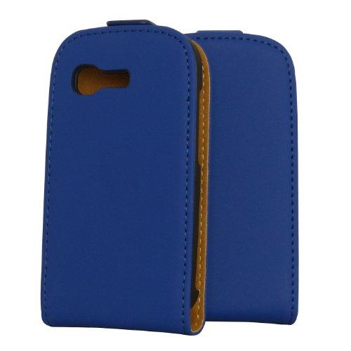 Rocina Premium Flip Case Tasche in blau für Samsung S5310 Galaxy Pocket Neo