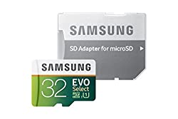 Samsung 32GB EVO Select Micro SDXC Memory Card, 80MB/s (MB-ME32DA/AM)