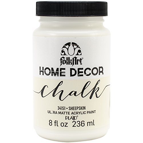 FolkArt Home Decor Chalk Furniture & Craft Paint in Assorted Colors (8 Ounce), 34151 Sheepskin (Home Decor Chalk Paint compare prices)