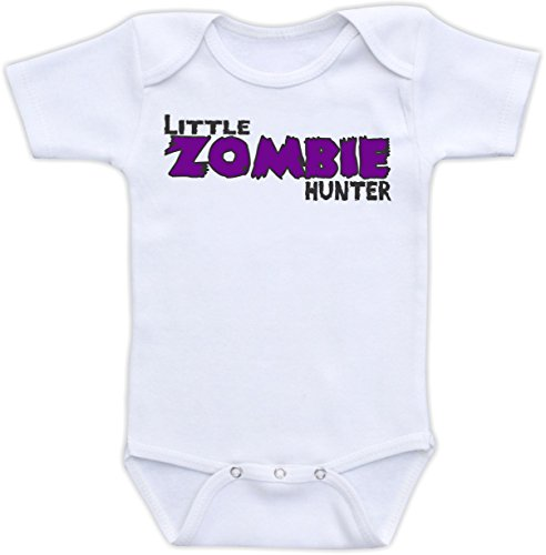 Little Zombie Hunter - Size 0-3 Months Bodysuit (Purple) front-107306
