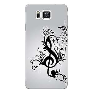 INKIF The Secret Quote Designer Case Printed Mobile Back Cover for Samsung Galaxy Alpha G850 (Black)