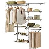 Rubbermaid Configurations Custom Closet Organizer, Deluxe, 4 to 8 Foot, White (FG3H8900WHT)