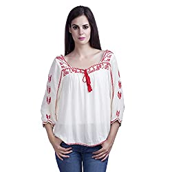 MansiCollections Causal Women's Embroidered Top (Large)