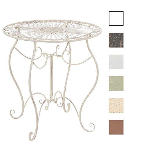 CLP-handgefertigter-runder-Eisentisch-INDRA-in-nostalgischem-Design-Durchmesser-70-cm-aus-bis-zu-6-Farben-whlen-antik-creme