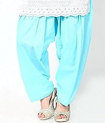 Castle Women's Salwar With Dupatta (Blue_Free Size)