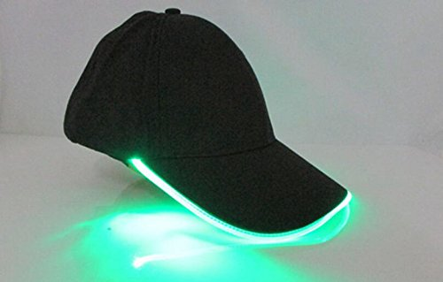 oyang-led-light-glow-club-party-sports-athletic-black-fabric-travel-hat-cap-green-light