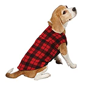 East Side Collection Polyester Fashion Fleece Dog Vest, XX-Small, 8-Inch, Buffalo Plaid