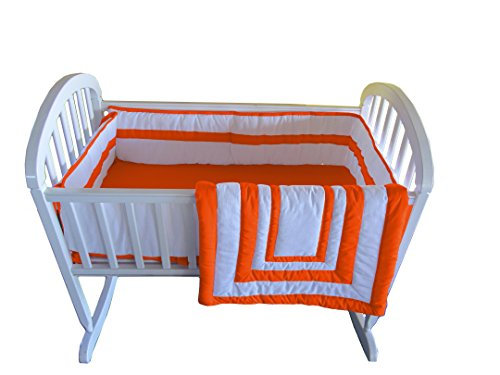 Baby Doll Modern Hotel Style Cradle Bedding Set, Orange