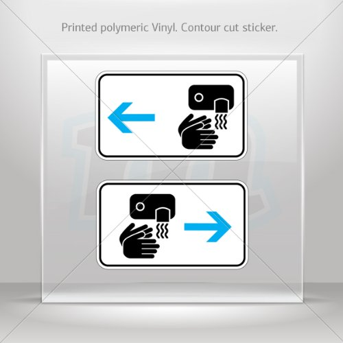 Sticker Decal Wc Rest Room Warm Air Dryer Sign Toilet Bathroom Latv Car Window 6 X 3.5 Inches Vinyl Color Print 0600 W8X8W front-205978
