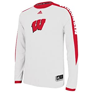 Adidas Wisconsin Badgers Adult On Court Long Sleeve Shooter Top by adidas