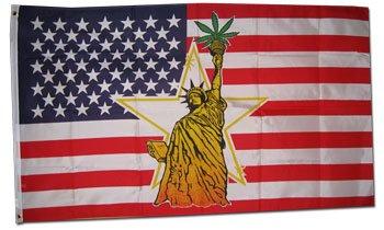 Statue of Liberty w/ Marijuana - Novelty flags