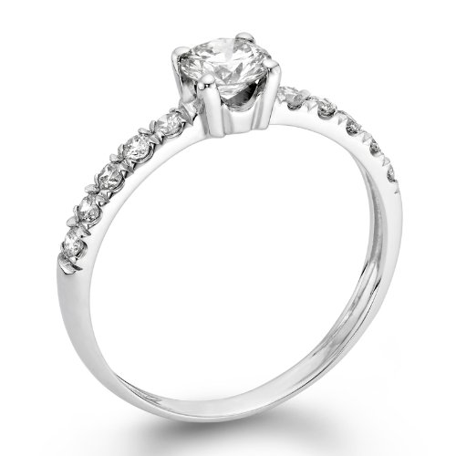 Diamond engagement ring 1 2 ct g color si3 clarity for Jewelry stores in ct