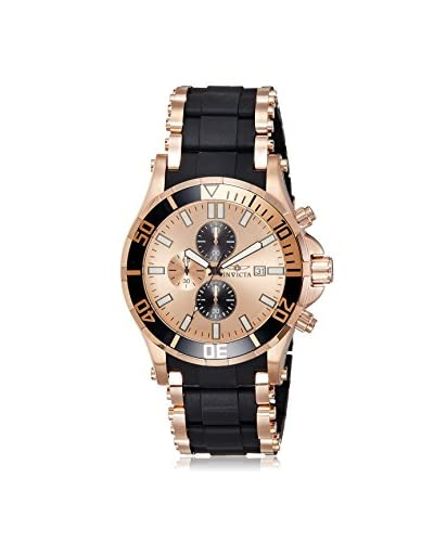 Invicta Men's INVICTA-1479 Black/Rose Gold-Tone Polyurethane Watch