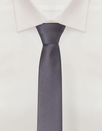 Tie from Fabio Farini striped in grey