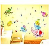 Decals Arts Cute Elephant Nursery Children Room Decorative Wall Stickers