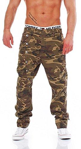 CIPO & BAXX - C-1080 Camouflage - Regular Fit - Uomo / Uomo Jeans pantaloni, taglia pantalone: W28 / L32