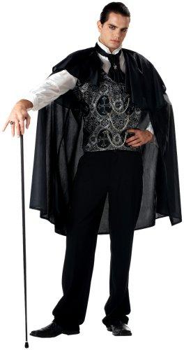 California Costumes Men's Adult-Victorian Vampire, Black, L (42-44) Costume