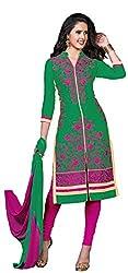 Fabgruh Presents Glaze Cotton Dress Material(Green)