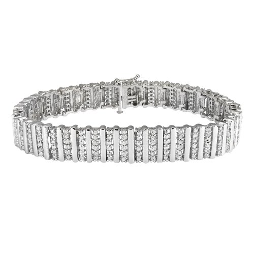 Sterling Silver 2.0 Cttw Diamond Bracelet