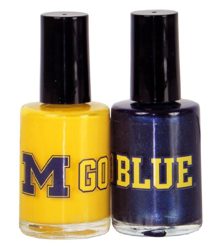 NCAA Michigan Wolverines Two Pack Team Colored Nail Polish