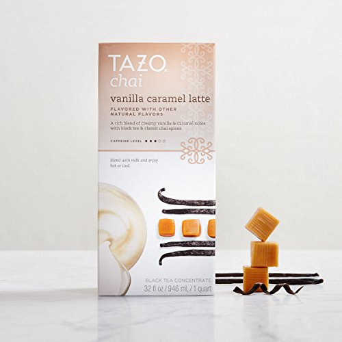 Tazo Chai Black Tea Concentrate Vanilla Caramel Latte -- 32 Fl Oz