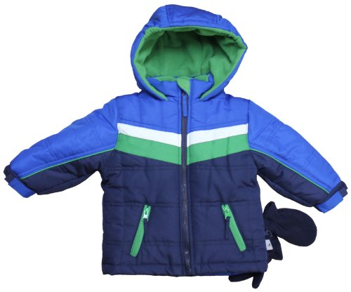 Review Rothschild Infant Boys Sports Stripe Snowsuit Jacket Set - Cobalt (Size 4T)  Review