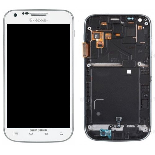 For Samsung Galaxy S2 T989 LCD + Touch Screen Digitizer - White with Frame - ... (Lcd Display Galaxy S2 compare prices)
