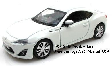 RMZ DISPLAY TRAY BOX 1/36 SCALE DIE CAST TOYOTA SCION FR-S IN WHITE