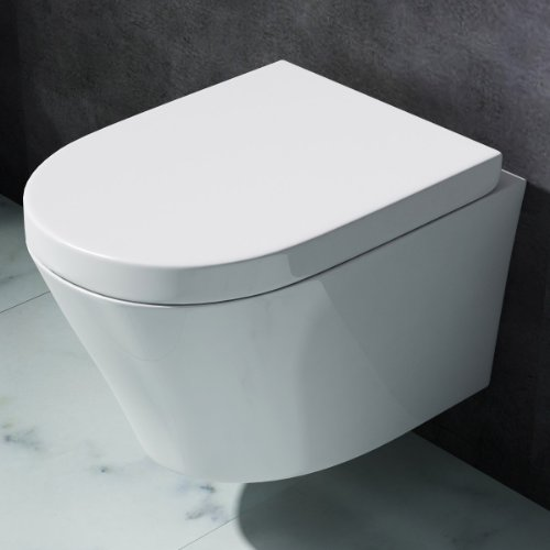 Design Toilette mit Soft Close, Keramik