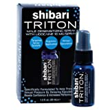 Shibari Triton Spray, Men's Desensitizing Spray, 1 Fluid Oz., with Maximum Lidocaine for Prolonged Intimacy