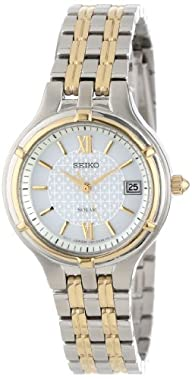 "Seiko Women's SUT020 ""Dress"" Two-Tone Stainless Steel Solar Watch"