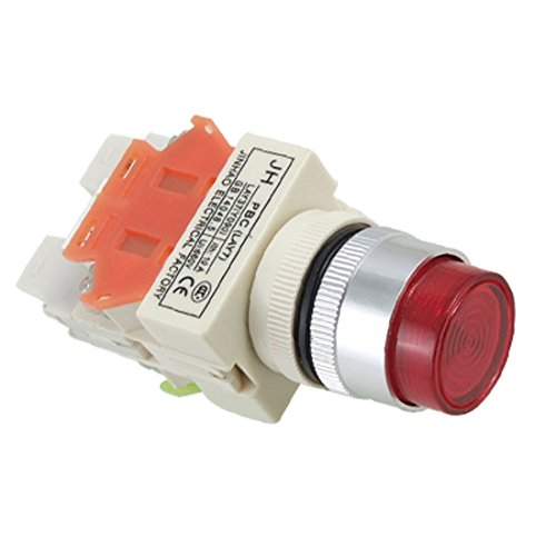 220V Red Led Light Lamp Emergency Stop Momentary Push Button Switch