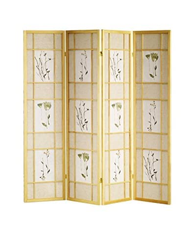 ORE International 4-Panel Shoji Screen, Natural