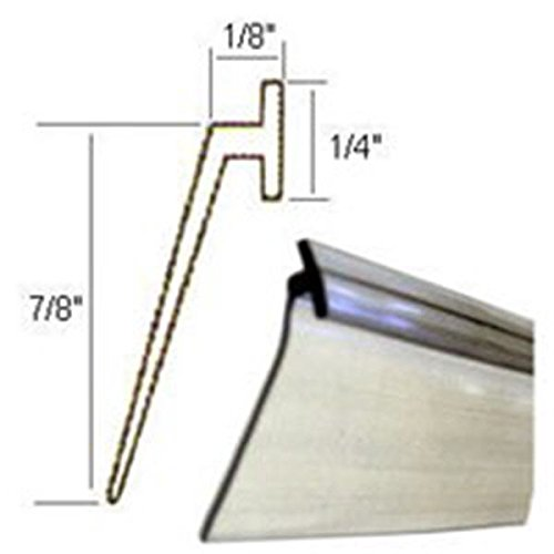 Clear Vinyl Framed Shower Door Drip Sweep Wipe Seal Angled 36