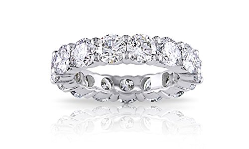 3.55mm Sterling Silver 925 Cubic Zirconia Cz Eternity Engagement Wedding Band Ring (6)