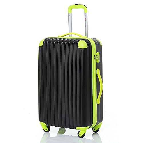 travelhouse-hard-shell-lightweight-travel-luggage-suitcase-4-wheel-spinner-trolley-bag-24-black-gree