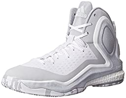 adidas Performance Men\'s D Rose 5 Boost Basketball Shoe, White/Grey/White, 12 M US