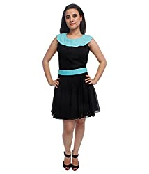 Tryfa Women's Dress (TFDRSR000061-XS_Black_X-Small)
