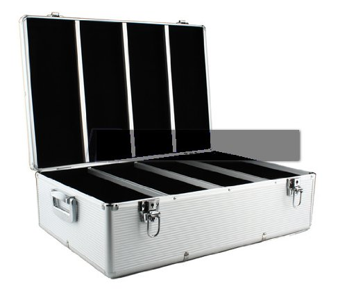 Aluminum Like Hard Cd Case 900 Capacity Holder Cases Diamond Silver Color For DVD Media Storage With 450 Units Double Sided Hanging Sleeves