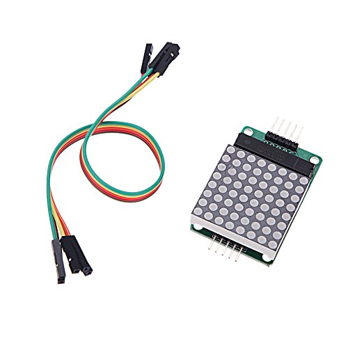 Docooler Max7219 Lattice Module+5Pcs Dupont Cables Mcu Led Display Scm Control For Arduino 5V 150?A Low Power Closed Mode 5 * 3.2 * 1.5Cm