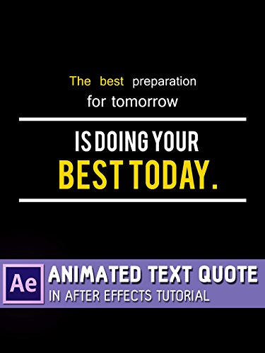 Animated Text Quote in After Effects Tutorial