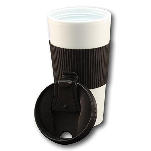 Travel Mug W Bonus Creamer Recipes Pdf Ebook - Double Wall Insulated Mugs By Bogo Brands (Black)