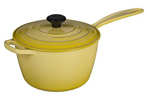 Le Creuset LS2518- 201M Signature Cast Iron Sauce Pan, 3.25-Quart, Soleil
