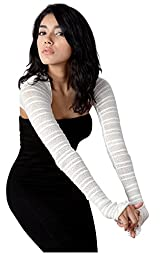 White Large Shrug Sexy Shadow Stripe Skinny Shrug KD dance New York Trending Stretch Knit Warm Office To Cocktails #Fashion Sophisticated High Quality #MadeInUSA
